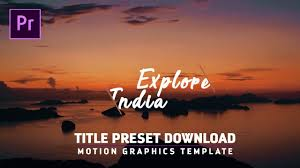 free titles intros preset for premiere pro cc motion graphic