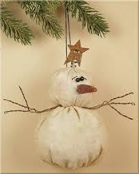 primitive snowman ornament snowman ornament by flathillgoods the