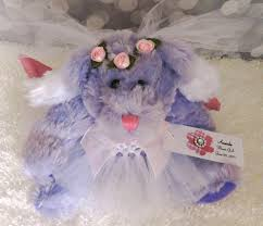 flower girl teddy gift lavender angel flower girl gift wedding