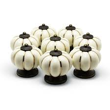 Kitchen Cabinet Handle by Ydo Tm Pumpkin Knobs Ivory Kitchen Cabinet Pull Ceramic Handle