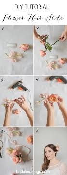 flower for hair diy flower hair slide tutorial bridal musings wedding