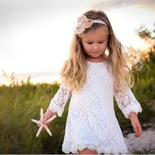 flower girl dress the lace flower girl dress white mywedstyle