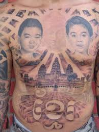 for unique robert pho tattoos pagoda portraits and budda on chest