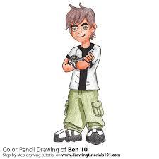 ben 10 colored pencils drawing ben 10 color pencils
