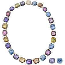 diamond necklace with sapphire images Multicolored sapphire diamond necklace earrings betteridge jpg