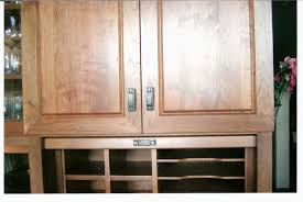 Tambour Kitchen Cabinet Doors Cherry Kitchen Mail Center With Tambour Doors Up William Pepper