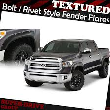 nissan tundra 2014 2014 2017 toyota tundra fender flares pocket riveted textured bolt