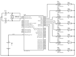 On Off Timer Circuit Diagram Led Chaser Using Pic Microcontroller Mikroc