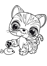 littlest pet shop coloring pages cute cat coloringstar