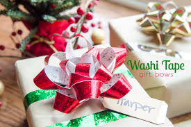christmas gift bow craftaholics anonymous washi gift bows tutorial makeamazing