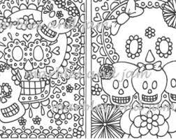 skull coloring etsy