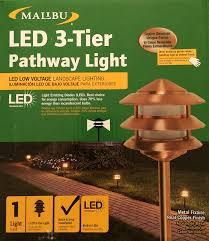 Low Voltage Landscape Lighting Parts by Malibu Led Real Copper 3 Tier Light Outdoor Figurine Lights