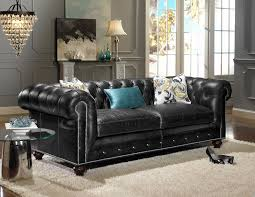 Black Leather Chesterfield Sofa Chesterfield Sofa Black Revistaoronegro
