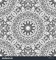 coloring page semless zendoodle vector stock vector