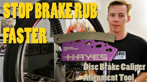 stop brake rub align your disc brakes faster hayes feel u0027r gage