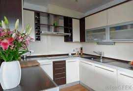 Kitchen Wall Stone Tiles - built in oven cabinets wood hanging countertop white countertop