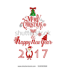 merry happy new year greeting stock vector 758320729