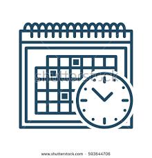 calendar clock vector icon meaning schedule stock vector 593644706