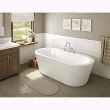 una acrylic 71 inch all in one oval freestanding tub kit