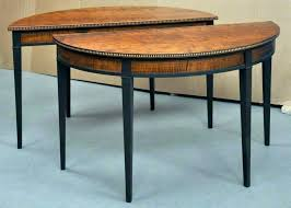 half moon dining table half moon dining table staggering half moon accent table decorating