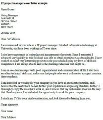 telecommunication project manager cover letter
