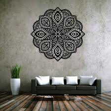 compare prices on buddhist wall murals online shopping buy low high mandala yoga decal quality vinyl sticker buddhist mural art deco flower wall stickers 57cm x