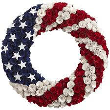 patriotic wood curl wreath pier 1 imports holidays