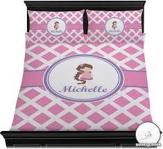 diamond print w princess duvet cover set personalized potty patty