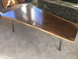 live edge wood slab furniture 4 steps