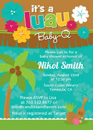 luau invitations luau baby shower invitations candles and favors