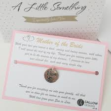 mother of the bride greetings card u0026 charm bracelet meaning quote