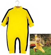bruce yellow jumpsuit aircee tm bruce baby romper suit clothes costume yellow