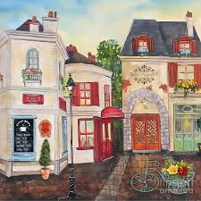 french street scene jp3206 painting by jean plout