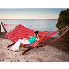 prime garden sunbrella fabric hammock 14 feet wood arc hammock