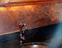 glass kitchen backsplash ideas kitchen room awesome glass and copper tile backsplash copper
