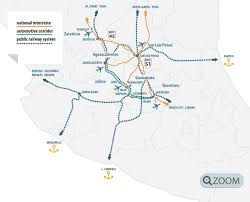 Zacatecas Mexico Map by Central Mexico Manufacturing Region