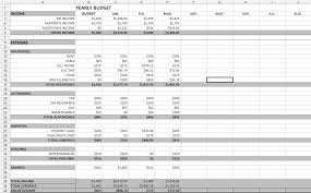Financial Spreadsheet Yearly Budget Spreadsheet Coordinated Kate