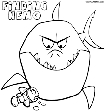 bruce finding nemo coloring page coloring home