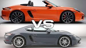 porsche boxter vs cayman porsche 718 boxster vs porsche 718 cayman