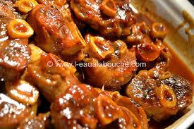 cuisiner le jarret de boeuf recette jarret de boeuf caramelise un site culinaire populaire