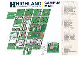 map n highland community college my hcc cus map cus map