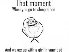 Make A Meme Comic - that moment when you go to sleep alone rage comic weknowmemes