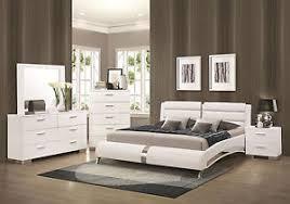 Ultra Modern Bedroom Furniture - stanton ultra modern 5pcs glossy white king size platform bedroom