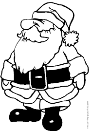 christmas coloring book printable funny santa claus