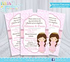 communion invitations for girl baptism invitations girl girl communion invitation baptism