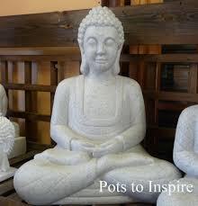 enigma large granite marble resin meditating buddha home or garden