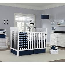 All White Crib Bedding Mix Match Crib Bedding Collection In Navy Buybuy