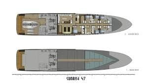 Luxury Yacht Floor Plans by Sunrise 47 Luxury Yacht Thparch