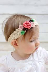 flower hairband free crochet flower headband pattern baby toddler