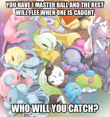 Pokemon Memes - legendary pokemon meme who will you catch by scorpionspear77 on